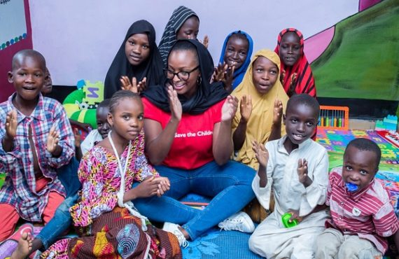 DJ Cuppy visits children displaced by Boko Haram in Maiduguri