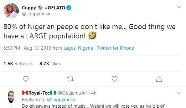 TRENDING: '80% of Nigerian' sparks Twitter reactions