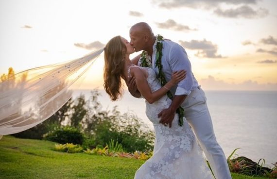 'The Rock' marries long-time girlfriend in Hawaii