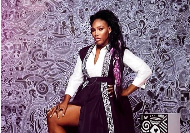 Serena Williams rocks kimono by Nigerian designer