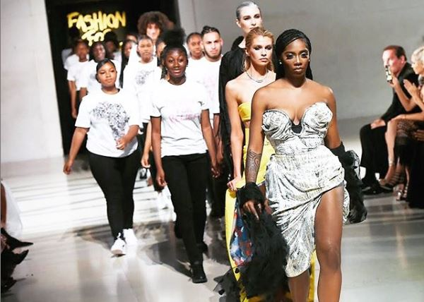 ICYMI: Tiwa Savage graces the runway for Naomi Campbell