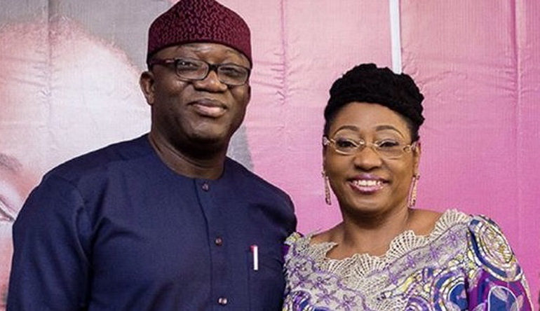 Kayode Fayemi and wife