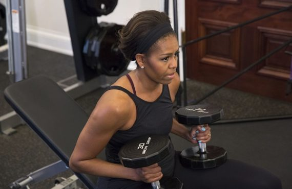 Michelle Obama wows fans with inspirational gym photo
