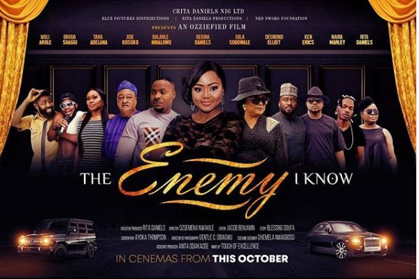 'The Enemy I know' hits cinemas October 11 – featuring Naira Marley, Regina Daniels