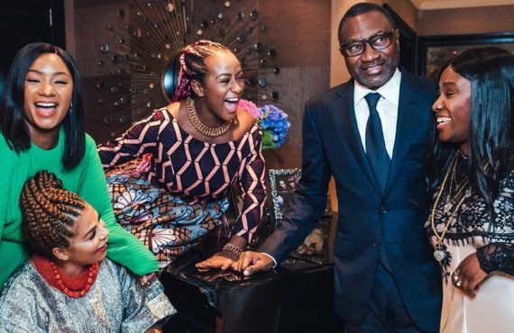 Femi Otedola and family tour Buckingham Plaace