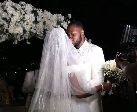 WATCH: Videos from BBNaija's Bambam, Teddy A white wedding in Dubai