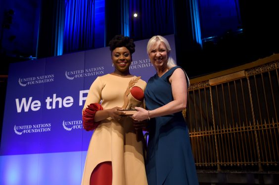 Chimamanda becomes first Nigerian to receive UN's Global Leadership Award