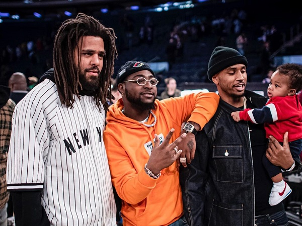 PHOTOS: Davido enjoys NBA match with J Cole, Ellen Pompeo, Trey Songz