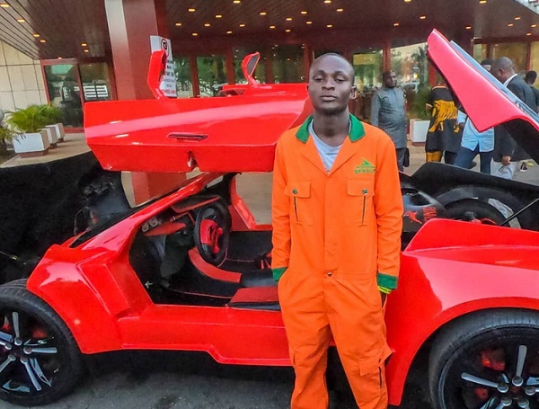 Meet the 25-year-old engineer who manufactured Nigeria's first carbon fibre sports car