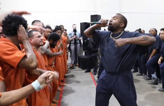WATCH: Kanye West thrills jail inmates to 'Jesus is King'