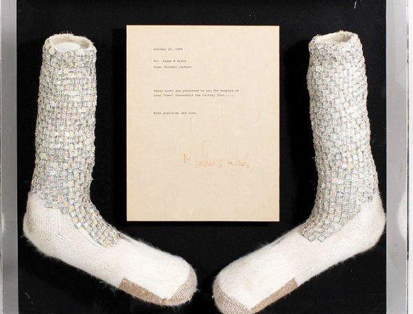Michael Jackson's 'moonwalk' socks could rake in nearly $2m at auction