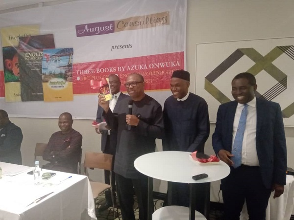 Nigeria isn't doing well because we don't invest in education, says Peter Obi at Azuka Onwuka's books launch