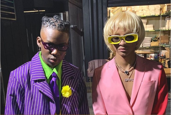Rema hangs out with Jaden Smith for Halloween