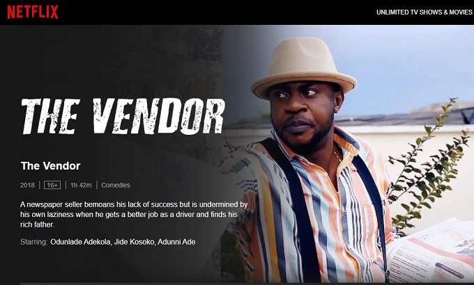 WATCH: 'The Vendor', Odunlade Adekola's comedy now on Netflix