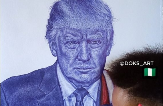 SPOTLIGHT: Oyedele Isaac — Nigeria's Trump-endorsed ballpoint artist who intends…