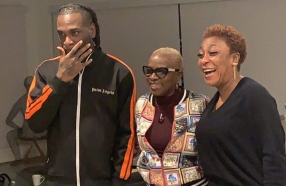 Angelique Kidjo meets with Burna Boy, and his mom