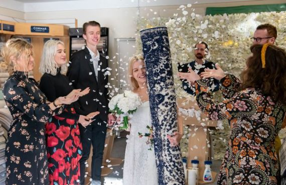 EXTRA: How single mum married rug in bizarre wedding ceremony