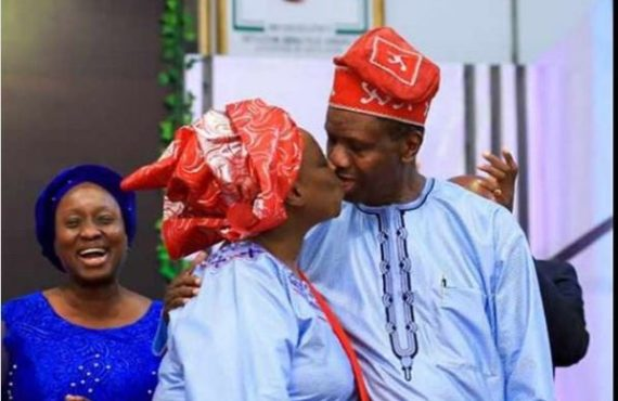 Valentine's Day: Adeboye kisses wife in throwback picture
