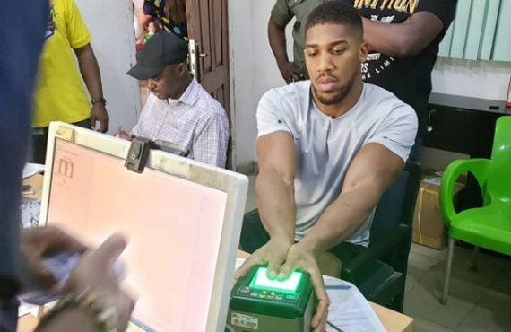 Anthony Joshua enrolls for national ID