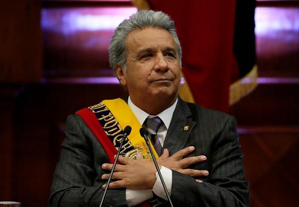 Lenín Moreno, president of Ecuador,