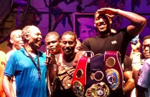 WATCH: Femi Kuti hosts Anthony Joshua at Afrika Shrine