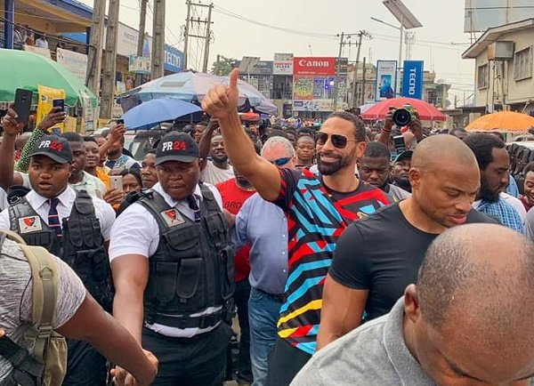 Rio Ferdinand visits Lagos' Computer Village in media tour