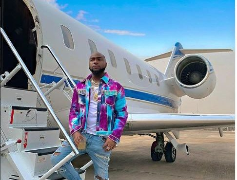 Davido speaks on '$62m' family private jet