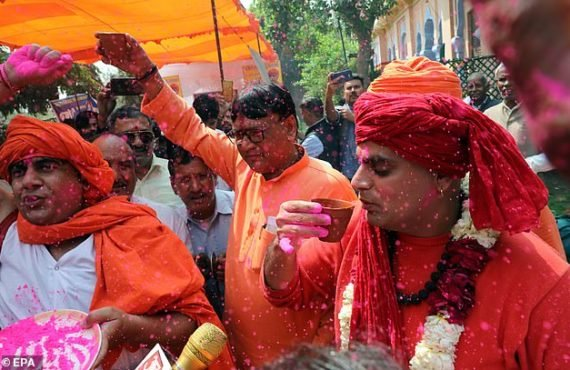 EXTRA: Hindu group holds 'cow urine drinking party' to ward…