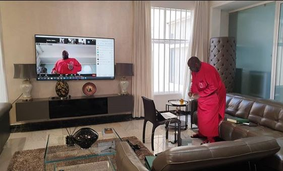 WATCH: How Dele Momodu staged virtual birthday party amid COVID-19