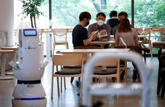 COVID-19: S'Korean cafe hires robots to serve coffee amid social…