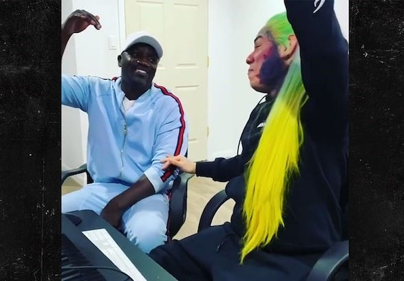 WATCH: 6ix9ine teases 'Locked Up' sequel with Akon
