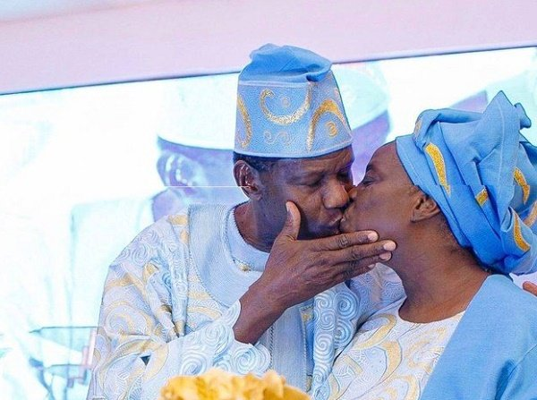 Adeboye celebrates wife's 72nd birthday with a passionate kiss