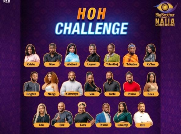 BBNaija Day 1: Housemates holds first Head of House challenge