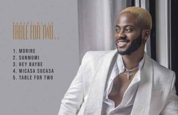 DOWNLOAD: Korede Bello drops 5-track EP 'Table For Two'