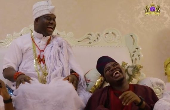 VIDEO: Ooni makes comedy debut in Mr Macaroni skit