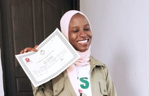 Zainab Aliyu, lady wrongly detained in Saudi for illicit drug, completes NYSC