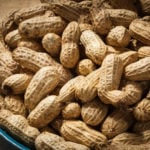 a bowl of groundnuts