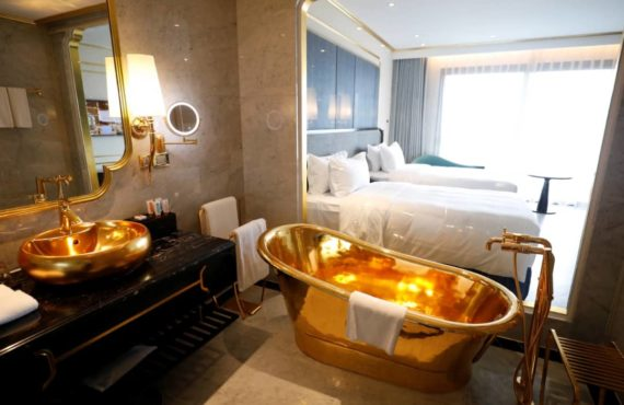PHOTOS: Take a look inside 'world's first' gold-plated hotel in…