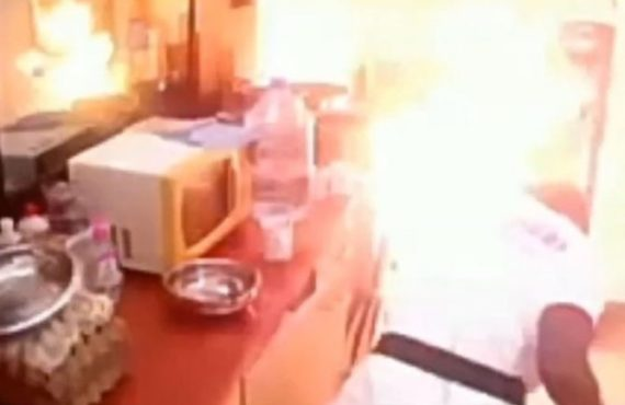 How fire started inside Big Brother Cameroon's kitchen