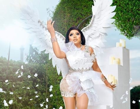 Bobrisky celebrates birthday with angel inspired photos