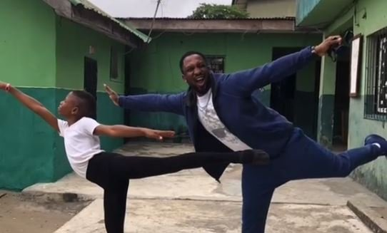 Darey Alade meets ballet boy who danced in rain in viral video