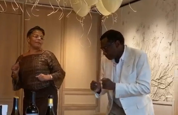 VIDEO: Otedola dazzles in dance session as wife marks 50th…