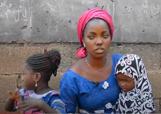 Kwara gov's wife offers to help abandoned blue-eyed woman, daughters