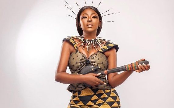 PHOTOS: Yvonne Jegede recreates look from 2Baba's 'African Queen'