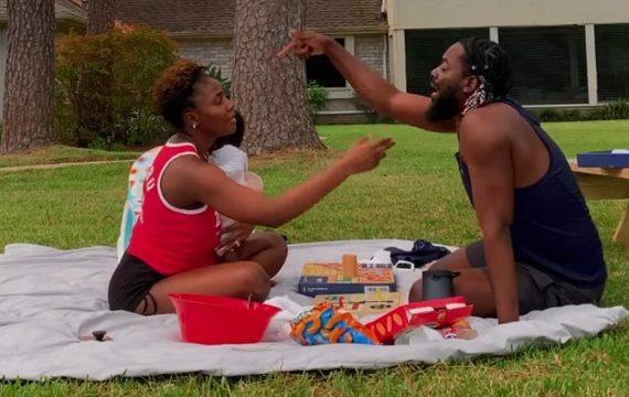 VIDEO: Adekunle Gold enjoys picnic with Simi, newborn child