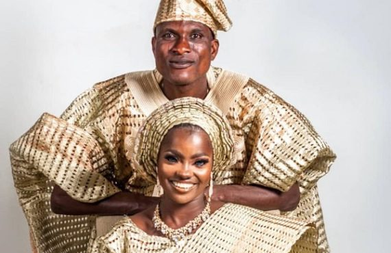 Kwara first lady secures apartment for blue-eyed Risikat, husband