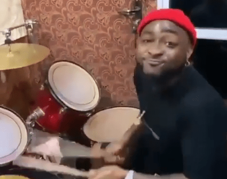WATCH: Davido dazzles worshippers with drumming skills in Asaba