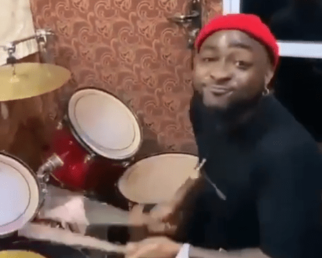 WATCH: Davido dazzles worshippers with drumming skills in Asaba church