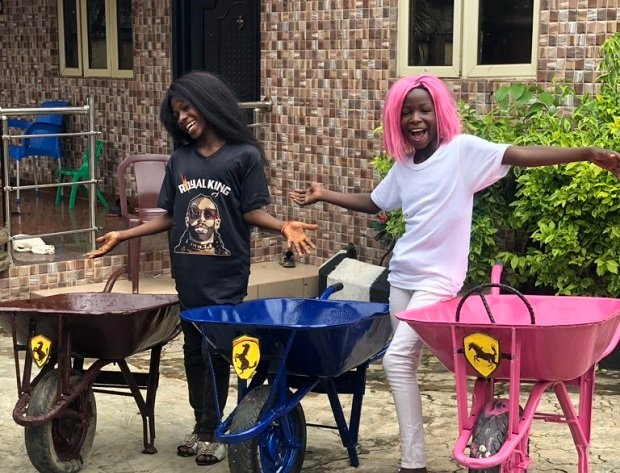 PHOTOS: Ikorodu Bois recreate DJ Cuppy, Temi Otedola's Ferrari shoot