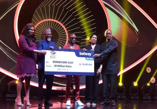BBNaija 2020: Laycon receives N30m cash prize, SUV, house